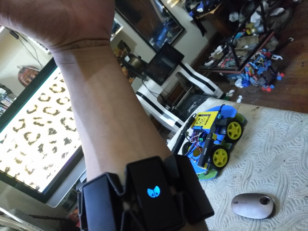 Gesture Control with the myo armband and Raspberry Pi.